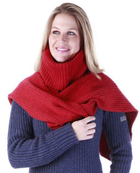 Anky Ladies Knitted Scarf Samba Red 1 maat nodig? - ruitershopbeerens.nl
