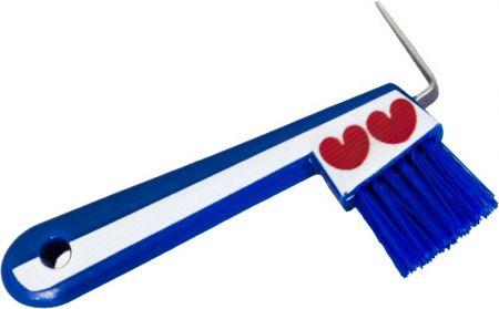 HB Hoevenkrabber met borstel Fries. Blauw 15,5x10cm nodig? - ruitershopbeerens.nl