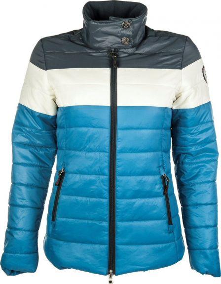 HKM Gewatteerde jas Dynamic 3 Colours Blauw M nodig? - ruitershopbeerens.nl