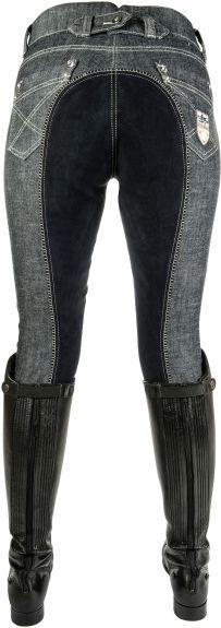 HKM jodphurbroek Miss Blink Jeans blauw 36 nodig? - ruitershopbeerens.nl