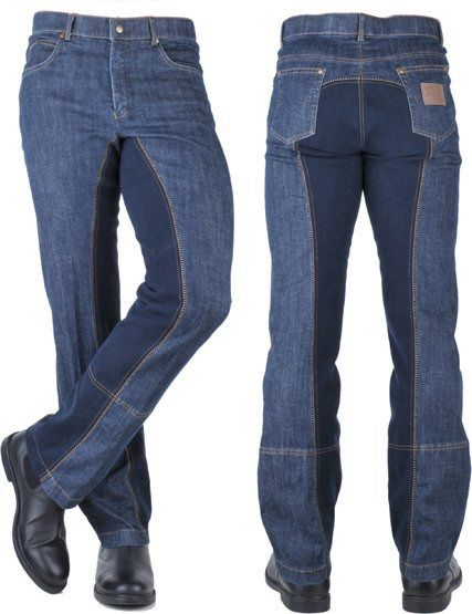 HKM Heren Jodphurbroek Texas Jeans Blauw 46 nodig? - ruitershopbeerens.nl