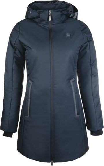 HKM Winterjas Elegant Heating Style Nachtblauw L nodig? - ruitershopbeerens.nl