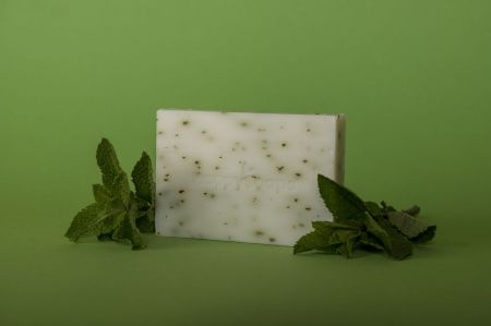 The Happy Soaps Handzeep - Mint en Katoen Mint 100 gram nodig? - ruitershopbeerens.nl