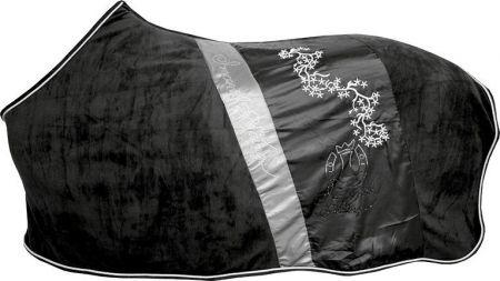 Imperial Fleecedeken Sparkling Zwart/grijs 185 nodig? - ruitershopbeerens.nl