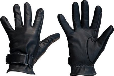 IR Handschoen Kalfsleder Zwart/grijs Extra Small nodig? - ruitershopbeerens.nl