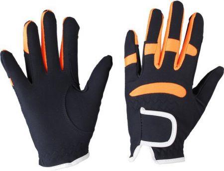 Kunstlederen handschoen Blauw/Oranje J1 nodig? - ruitershopbeerens.nl