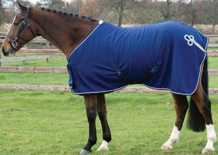 QHP fleece deken ornament Blauw / Zilver 185 nodig? - ruitershopbeerens.nl