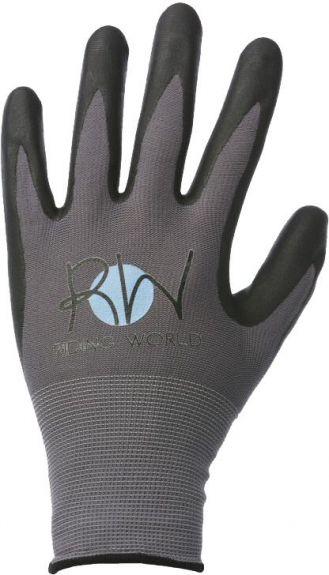 Riding World handschoenen. Grijs/ zwart XS nodig? - ruitershopbeerens.nl